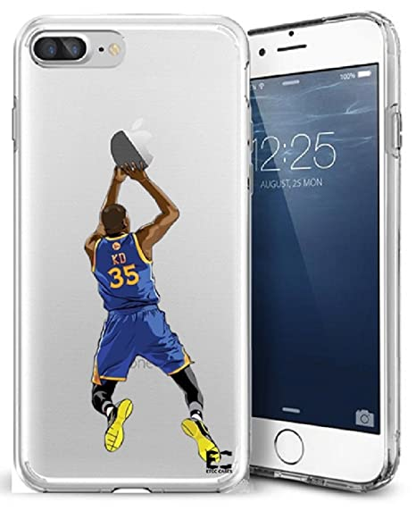 promo code 4edf4 fe9c0 Epic Cases iPhone 7/8 Plus Case, for Apple iPhone, Ultra Slim Transparent  Dominate the Basketball Court Series - KD Durantula, Clear Sports Case ...