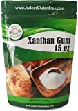 Judee's Xanthan Gum Gluten Free(15 oz) - USA Packaged & Filled - Dedicated Gluten & Nut Free Facility - Perfect for Low Carb Keto Cooking & Thickening Sauces, Gravies, and Smoothies. Non-GMO