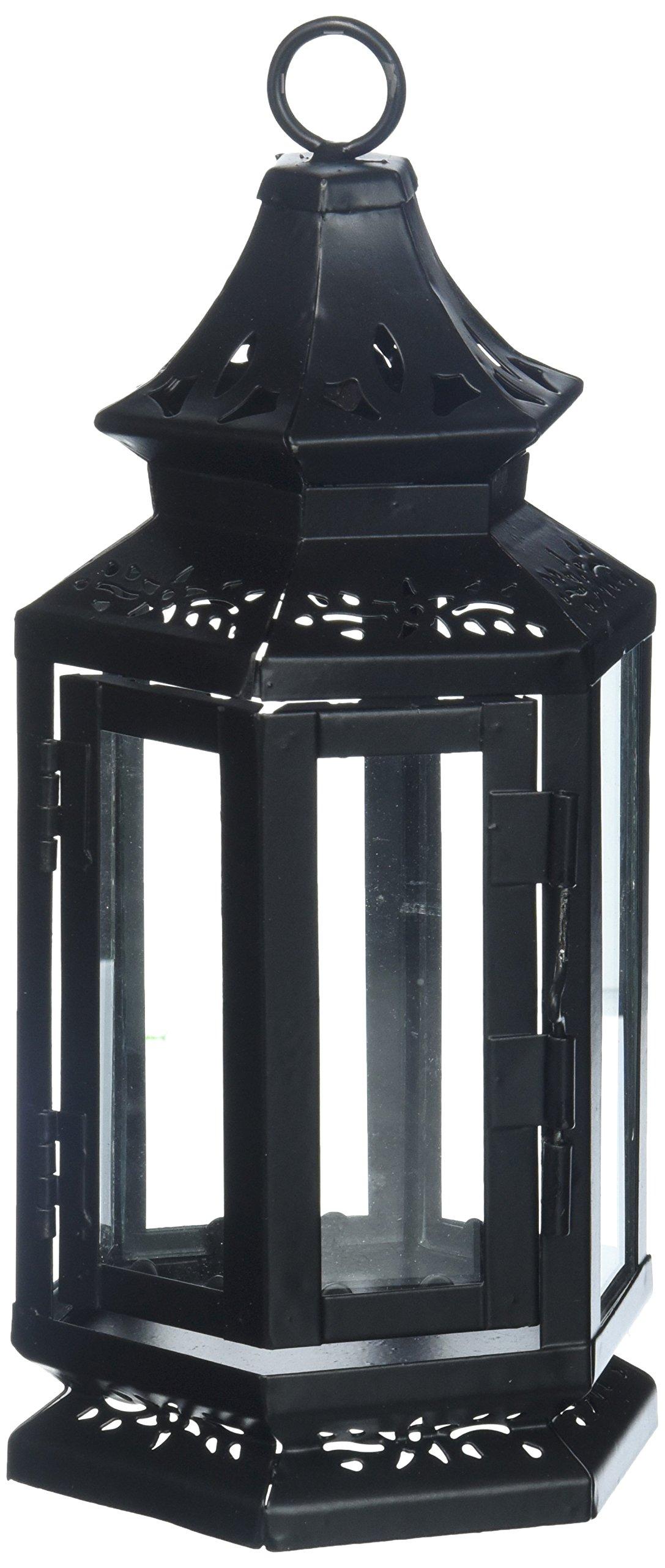 Set of 10 Black Stagecoach Lantern