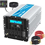 Pure Sine Wave Power Inverter 3000Watt DC 12 Volt to 120Volt with LCD Display and Remote Control 2X 2.4A USB and 4X AC…