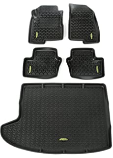 Great Outland 391298827 Black Front, Rear And Cargo Floor Liner Kit For Select  Jeep Compass And