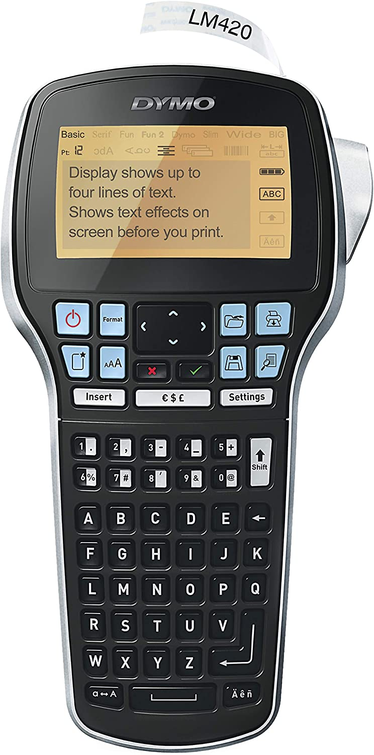Large Display DYMO Label Maker One-Touch Smart Keys Easy-to-Use QWERTY Keyboard LabelManager 160 Portable Label Maker for Home /& Office Organization Renewed