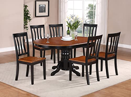 AVAT5-BLK-W 5 Pc Dining room'set-Oval Dining