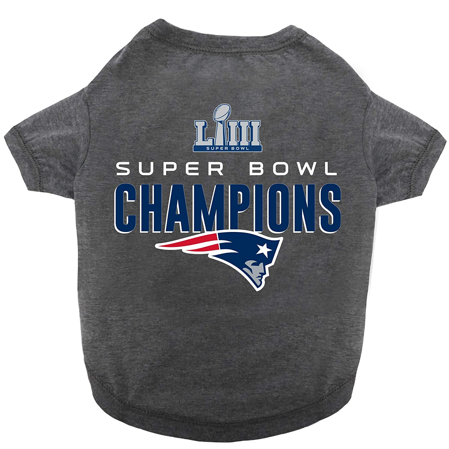 cc7c6e3125b Amazon.com   NFL New England Patriots 2018-2019 Super Bowl LIII  Championship Pet Tee Shirt   Sports   Outdoors