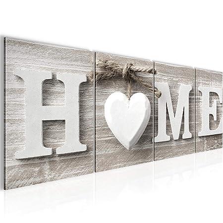 Bilder Home Wandbild 160 x 50 cm Vlies - Leinwand - 4 Teilig Bild ...