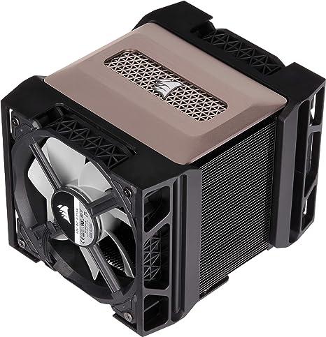 Corsair A500, Refrigerador de CPU de Doble Ventilador de Rendimiento, Refrigera hasta 250W TDP, Sistema Intuitivo de Montaje de deslizamiento de Ventilador, Ventiladores Corsair ML120, Color Negro: Amazon.es: Informática