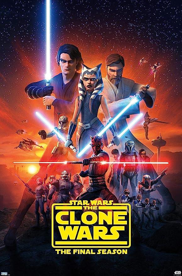 "Amazon.com: Trends International Star Clone Wars-Season 7 Key Art Wall  Poster, 22.375"" x 34"", Premium Unframed Version: Posters & Prints"