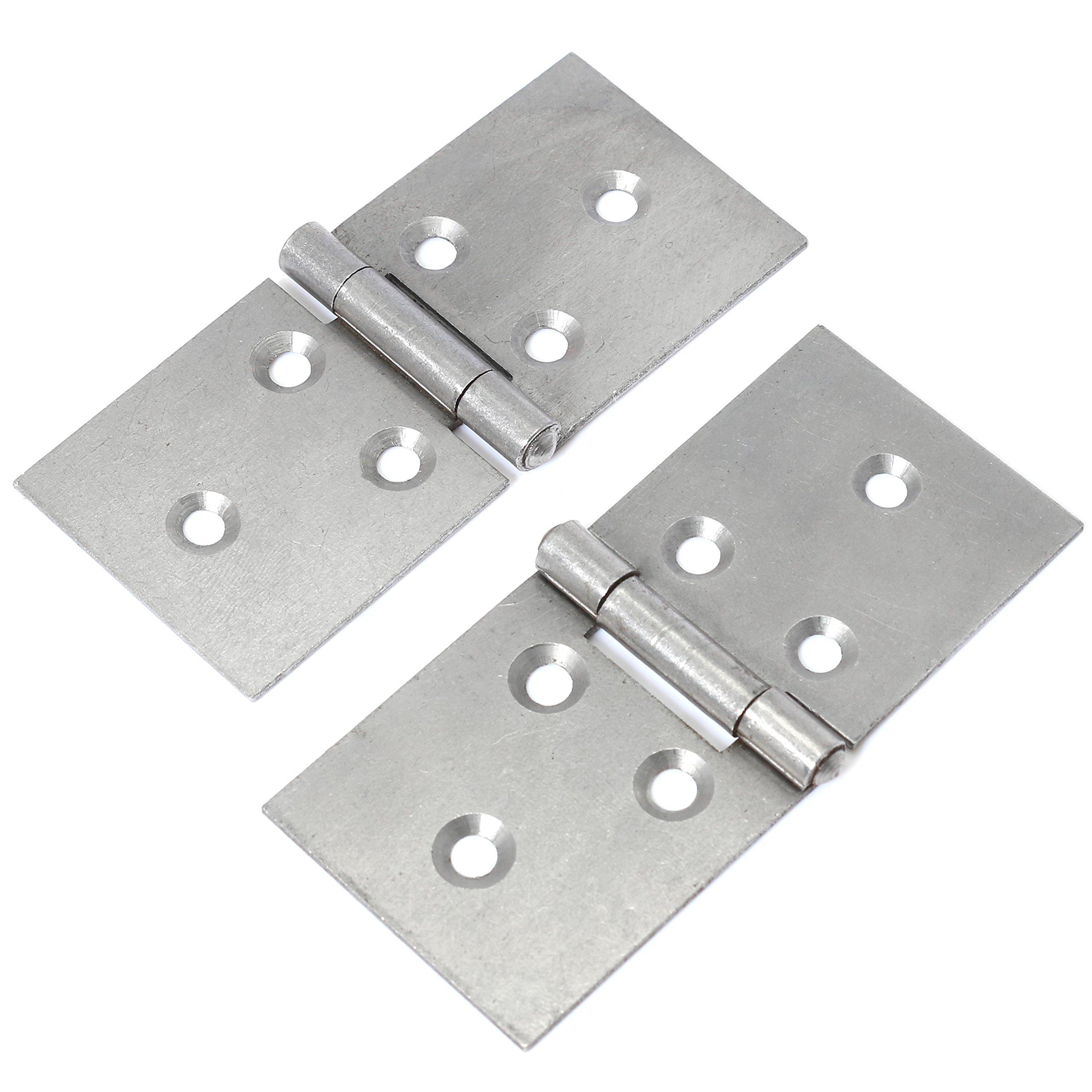Counter Hinge Various sizes 2 x Heavy Duty Steel Back Flap Hinges Box Hinge