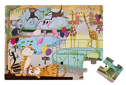 Janod A Day at The Zoo Tactile Puzzle (20 Piece)