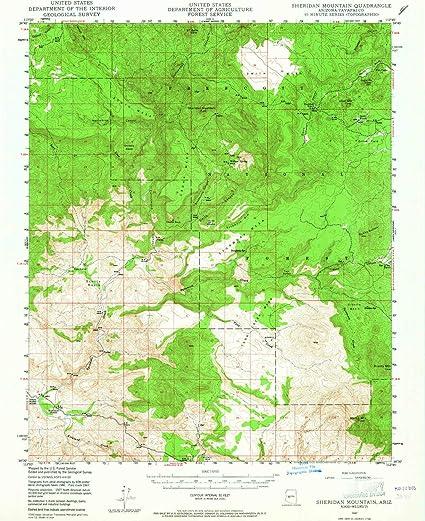 Az Topographic Map.Amazon Com Yellowmaps Sheridan Mountain Az Topo Map 1 62500 Scale