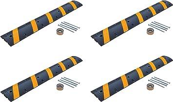 Asphalt 72 Length 11.75 Width Vestil SBRY-72-A Black Heavy Duty Speed Bump