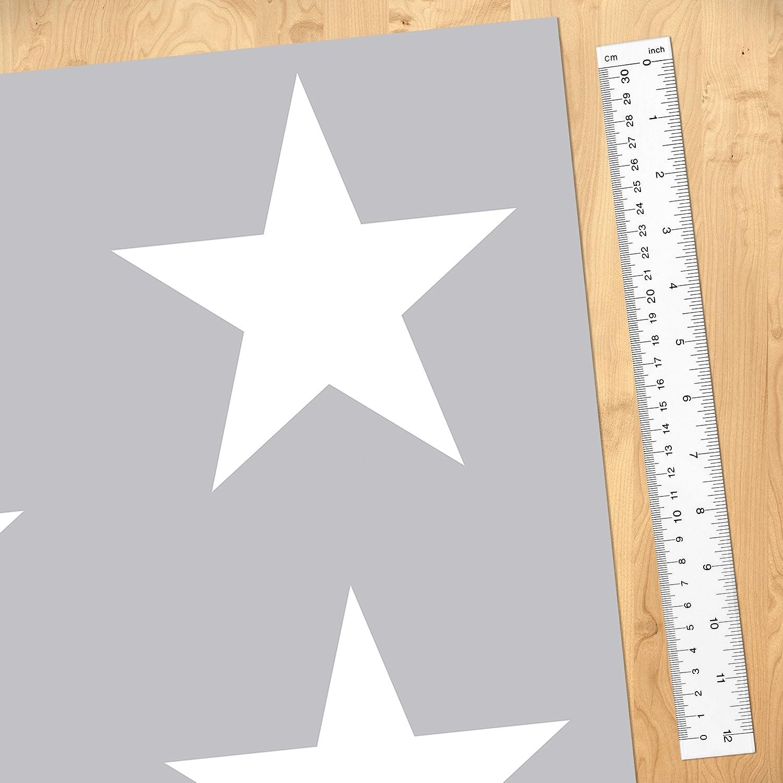 Kindertapeten - - - Vliestapeten - Weiße Sterne auf grauen Hintergrund - Fototapete Breit Vlies Tapete Wandtapete Wandbild Foto 3D Fototapete, Größe HxB  320cm x 480cm 3f29fd