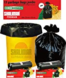 Shalimar Premium OXO - Biodegradable Garbage Bags (Jumbo) Size 76 cm x 112 cm 4 Rolls (60 Bags) (Black Color)