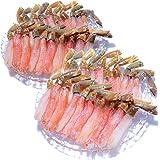黒帯 ギフトセット 生ズワイガニ 脚 特大 生 ずわい蟹 足 棒肉 ポーション かに むき身 良品選別済 (1kg 40-50本前後入)
