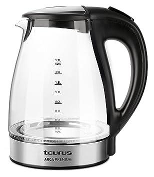 Taurus Aroa Premium - Hervidor de agua electrónico (2200 W, capacidad 1,7