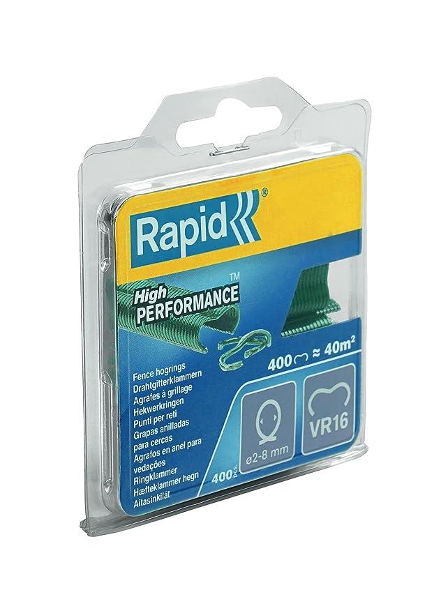 Rapid VR16 Drahtgitterklammern 3190 St/ück Gr/üne Kunststoffbeschichtung