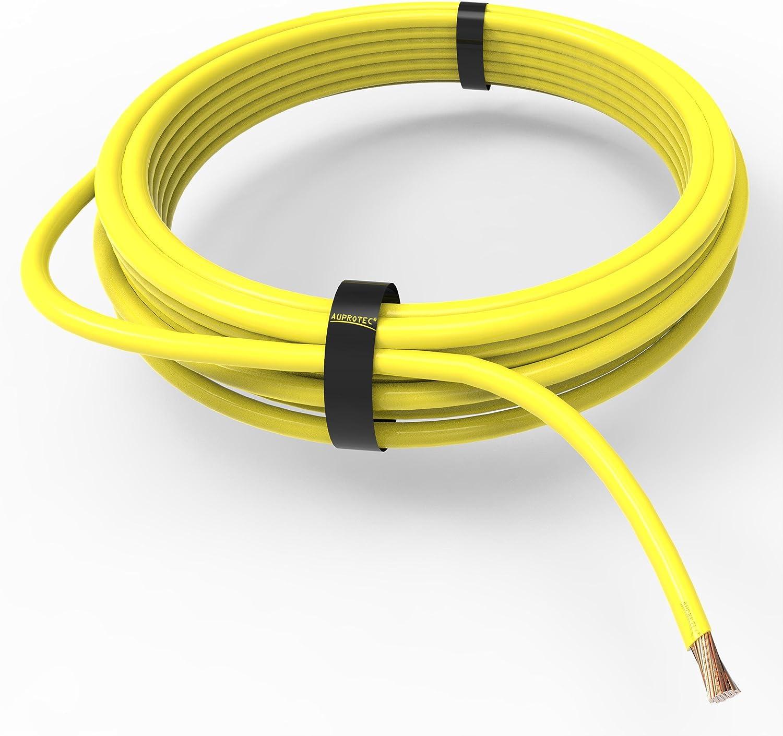 AUPROTEC Cavo unipolare 0.75 mm/² FLRY-B Filo elettrico ad anello nero 10m