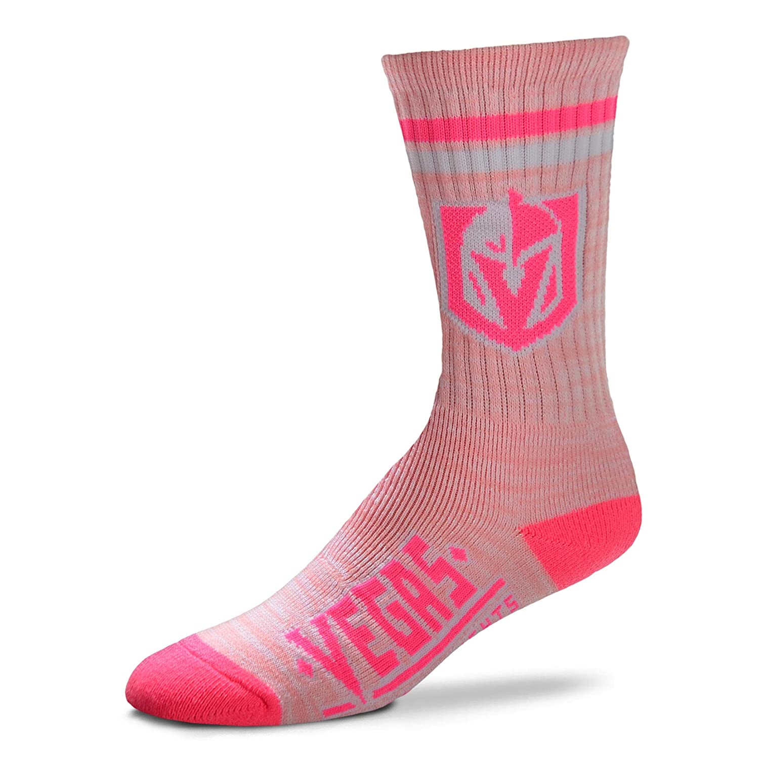 Las Vegas Golden Knights NHL Pretty in Pink Womens Crew Socks For Bare Feet