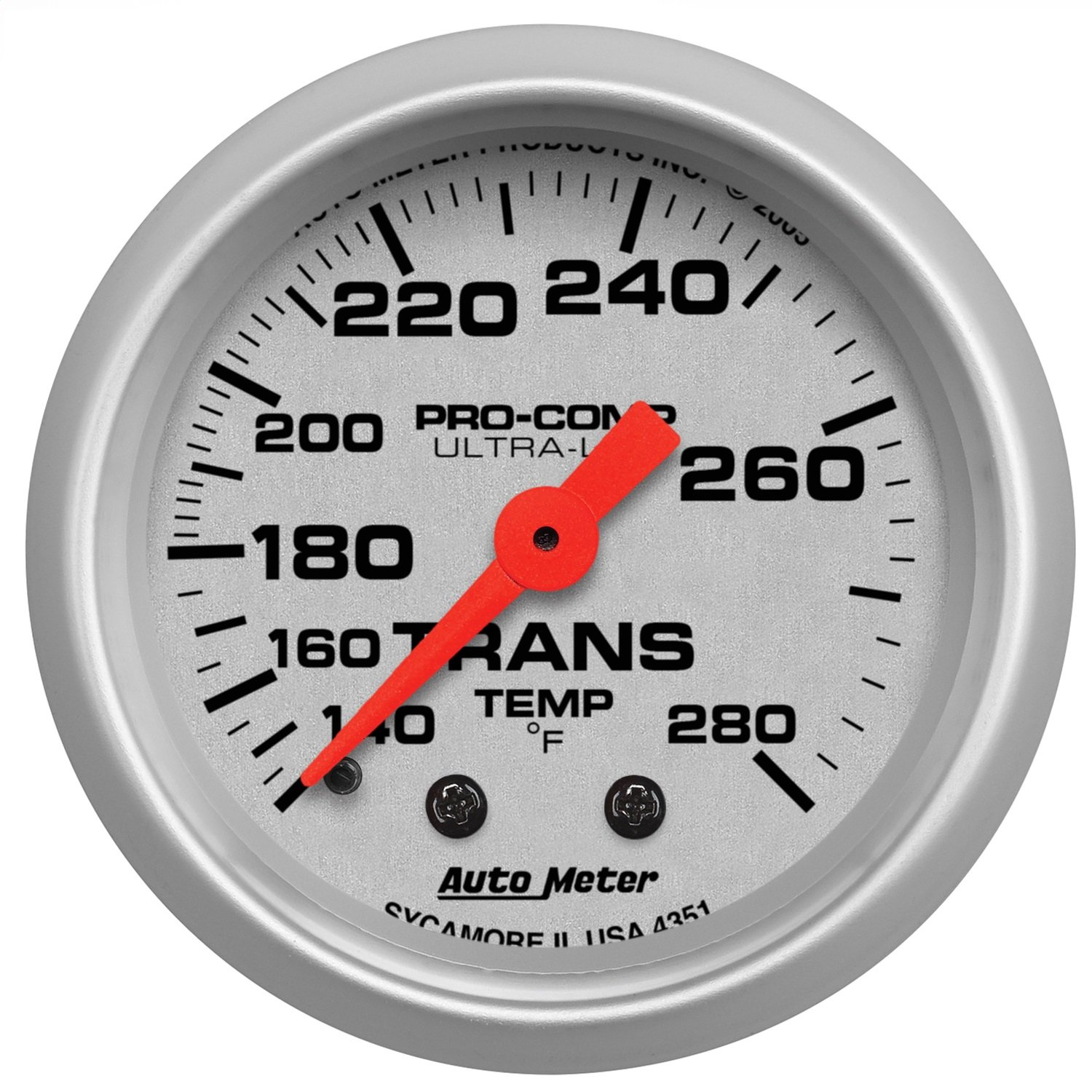 Auto Meter 4351 Ultra-Lite Mechanical Transmission Temperature Gauge by Auto Meter