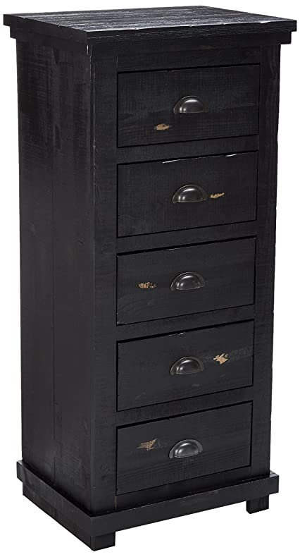 Progressive Furniture Willow Lingerie Chest, Distressed Black