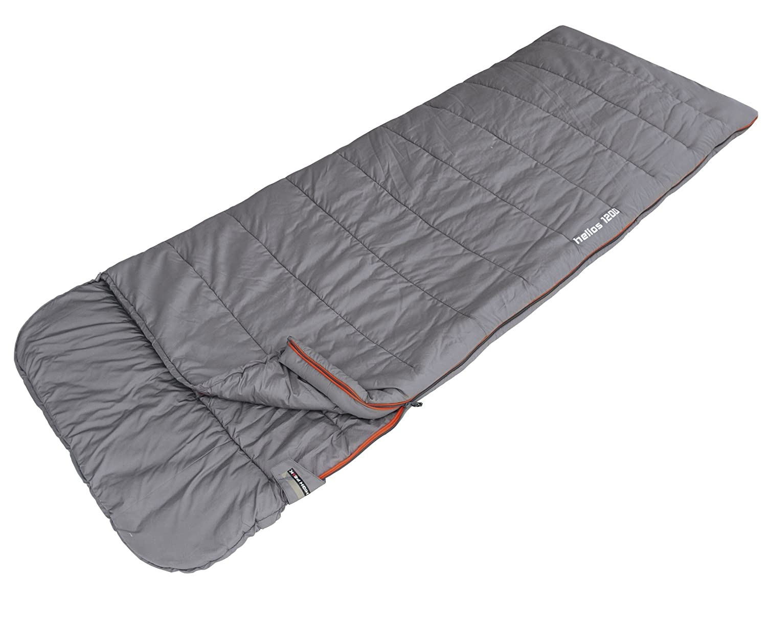 High Peak Helios 1200 - Saco de dormir (220 x 80 cm), color gris: Amazon.es: Deportes y aire libre