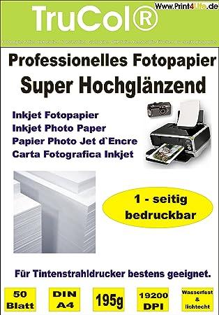 Premium de 50 hojas de papel fotográfico ESTUPENDO brillante DIN ...