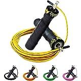ZenRope - Speed Rope Springseil Sport mit GRATIS E-BOOK   Extra-Stahlseil, Tasche & Einstiegsguide
