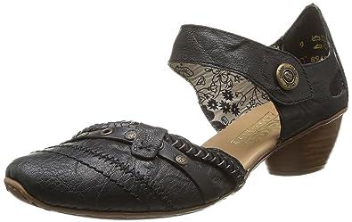 Rieker 43711-00 Noir - Chaussures Escarpins Femme