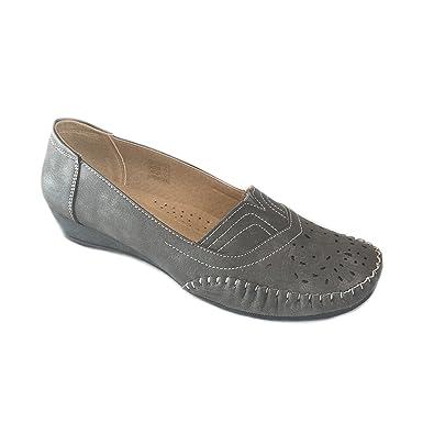 Scandi Schuhe scandi damen schuh slipper ballerinas schuhe grau größe 36 41neu