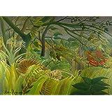 Henri Rousseau: Surprise. Fine Art Print/Poster. Large Size A1 (84.1cm x 59.4cm)