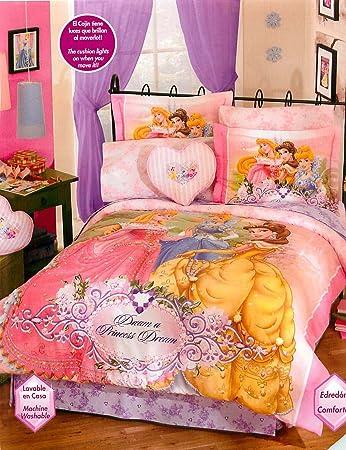 Amazon.com: Disney Princess 8 pc Full Comforter bedding Set ...