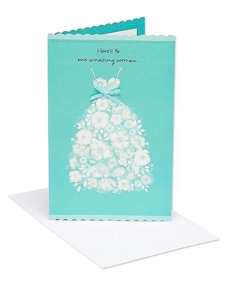 Amazon.com: American Greetings, tarjeta de boda con papel ...