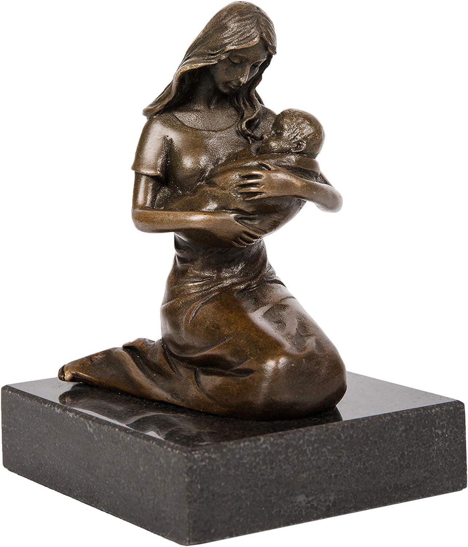 Toperkin Maternal Love Home Decor Baby Metal Artwork TPE-585 Bronze Sculpture Statue