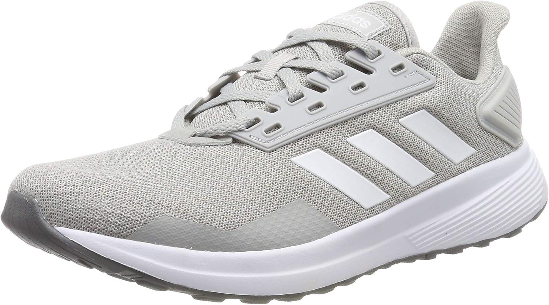 adidas Duramo 9 Mens Running Fitness Trainer Shoe Grey/White