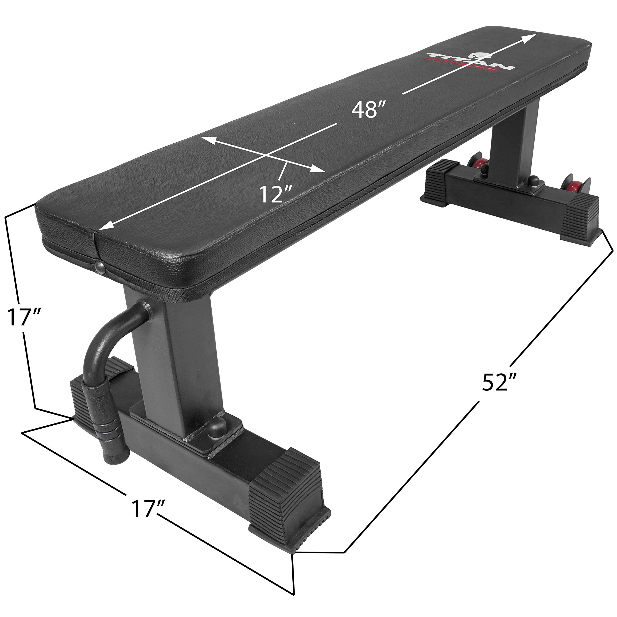 Titan Fitness Flat Weight Bench 1,000 lb Rated Capacity w/ Handle & Wheels by Titan Fitness (Image #1)