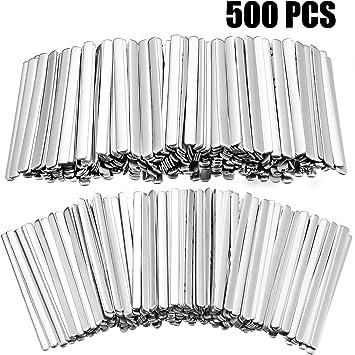 muy resistentes para hacer puentes de nariz 100 tiras adhesivas de metal plano de aluminio para hacer manualidades y hacer accesorios hechos a mano