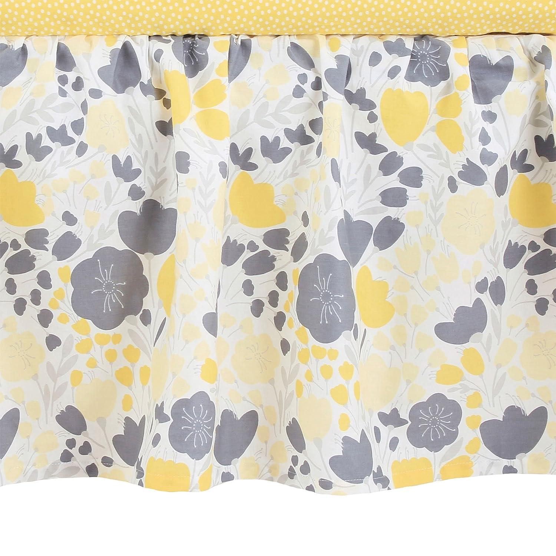Yellow Tulip Balboa Baby Yellow Tulip Collection Cotton Sateen Dust Ruffle