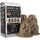 Grandpa Gus's Natural Rodent Repellent Pouches - Non-Toxic Mouse Trap Alternative Mice Deterrent - 4 Pack