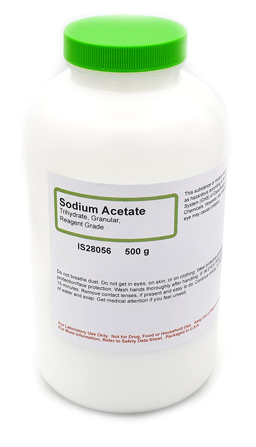 Reagent-Grade Sodium Acetate Trihydrate, 500g - The Curated Chemical Collection