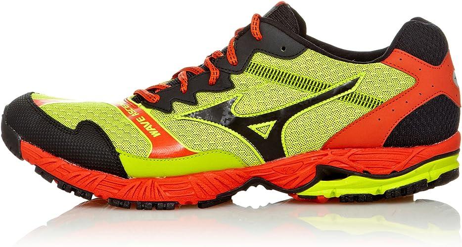 Mizuno Zapatillas Running Wave Ascend 8 Lima/Antracita/Naranja EU 44.5 (UK 10): Amazon.es: Zapatos y complementos