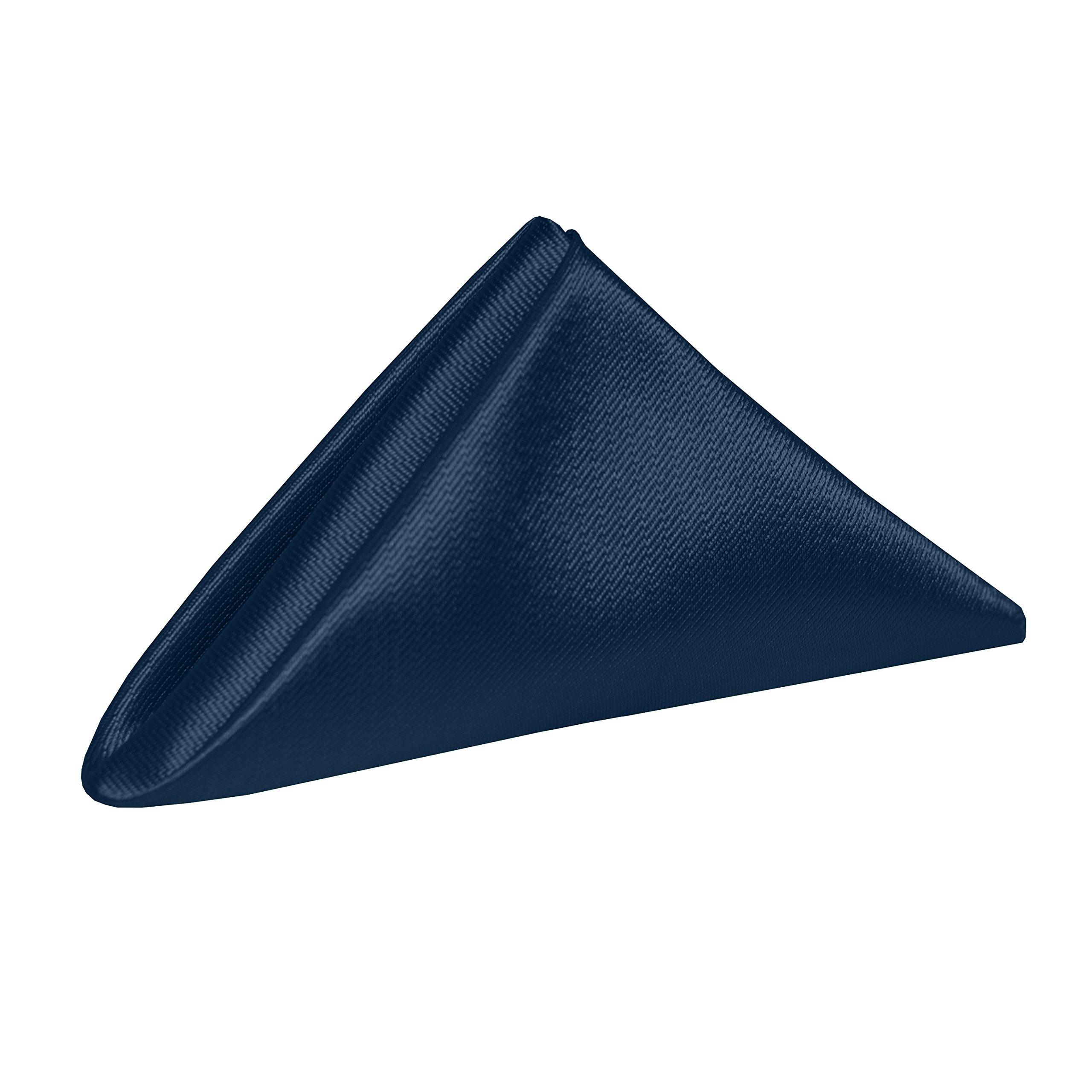 Ultimate Textile (2 Dozen) Herringbone - Fandango 20 x 20-Inch Napkins, Navy Blue