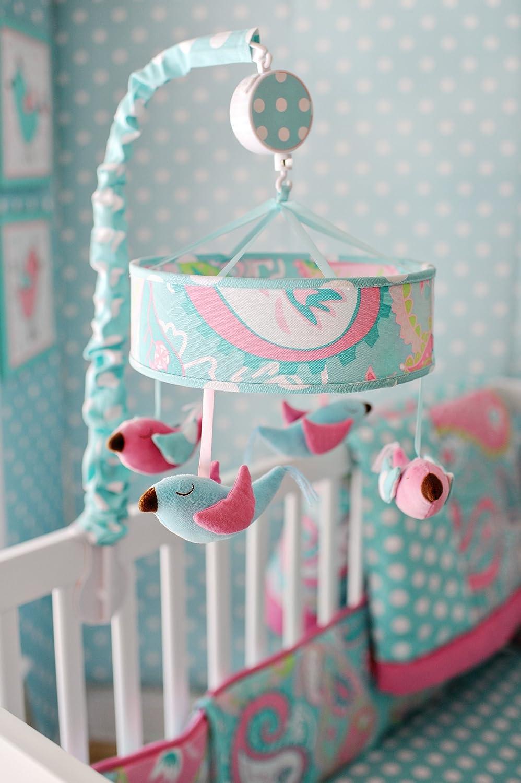 My Baby Sam Pixie Baby Mobile, Aqua MB167