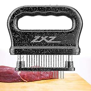 Meat Tenderizer, 48 Stainless Steel Sharp Needle Blade, Heavy Duty Cooking Tool for Tenderizing Beef, Turkey, Chicken, Steak, Veal, Pork, Fish, Christmas Cooking Set