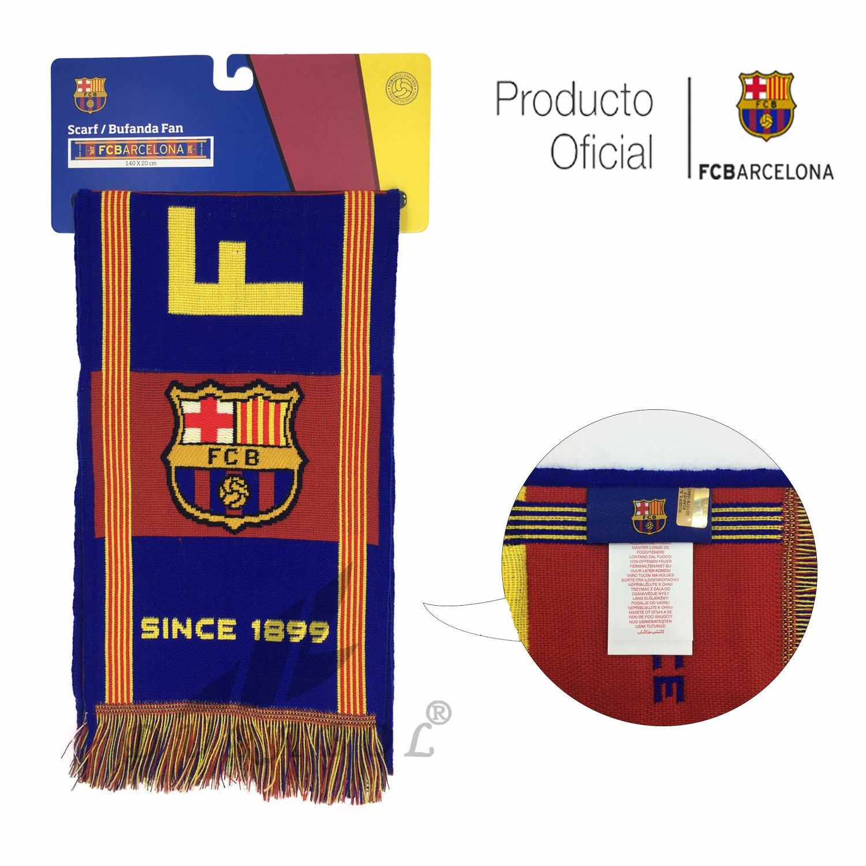 Producto Oficial FC Barcelona Bufanda FCBARCELONA (Liga 2018)  Amazon.es   Deportes y aire libre 64efcb9c23d
