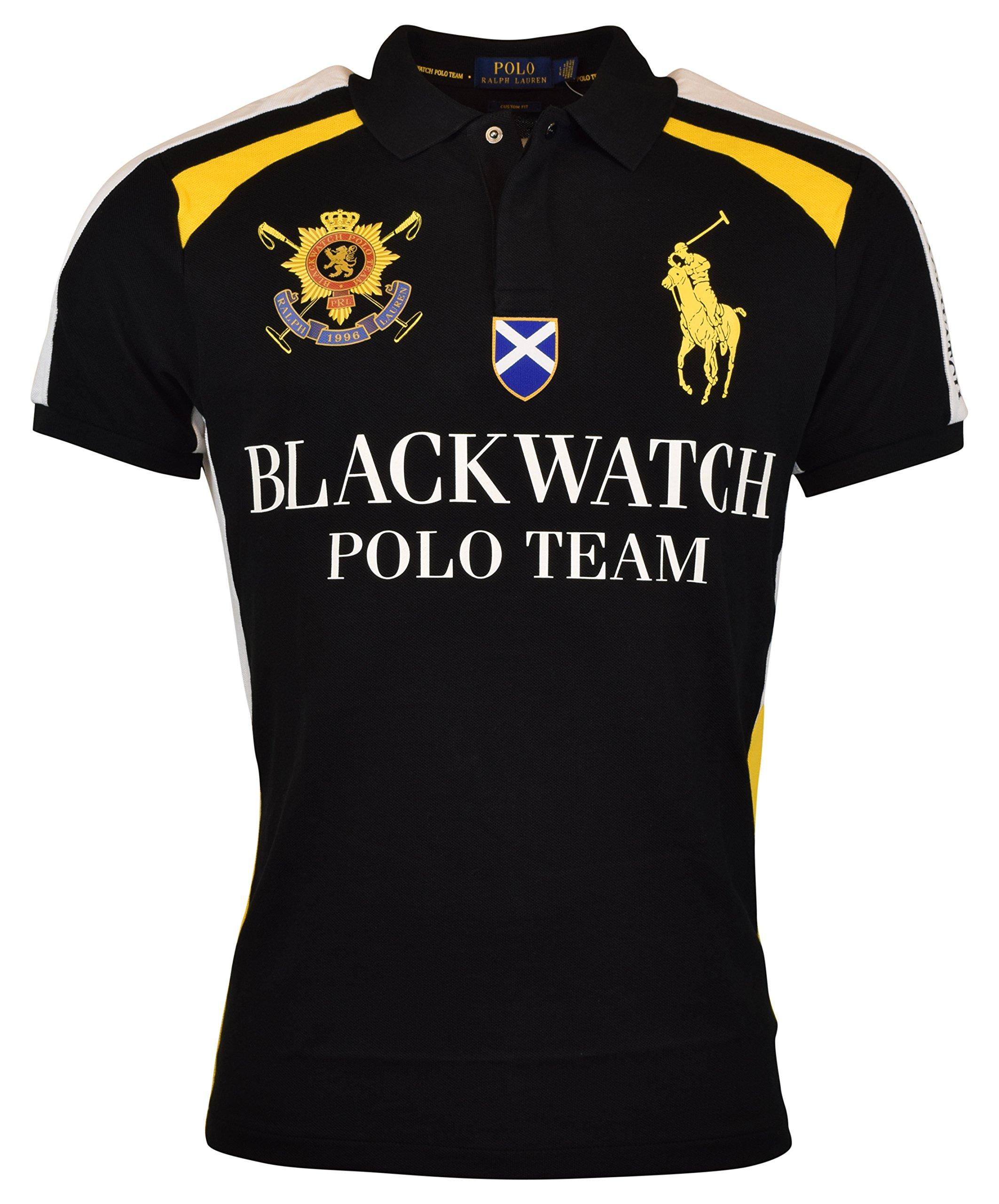 Polo Ralph Lauren Mens Custom Fit Blackwatch Polo Shirt - XXL - Polo Black