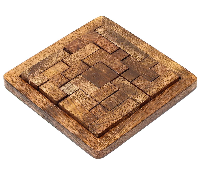 SKAVIJ pentominos de scie sauteuse à la Main de Puzzle 13 pièces et Jouets en Bois 3D Brain teasers Jeux éducatifs pour Les Cadeaux de Noël M-WP2