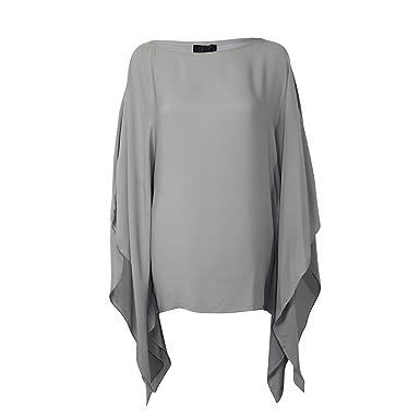 6b323422fd004 SEN Womens Silk Poncho Top Grey Extra Small at Amazon Women s ...