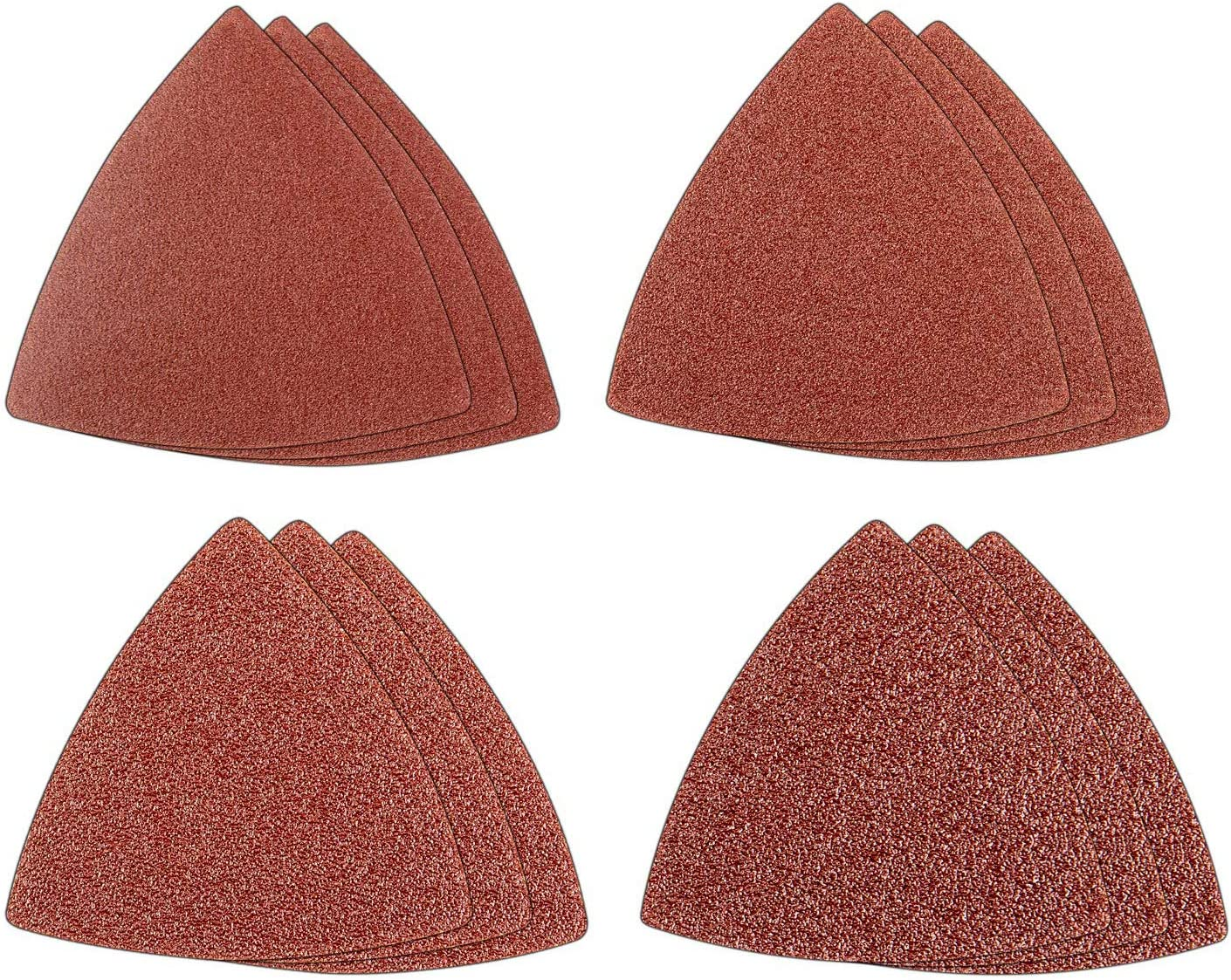 Genesis GAMT701 Universal 12-Piece Hook-and-Loop Sandpaper Assortment with 3 60-Grit, 3 80-Grit, 3 120-Grit, and 3 240-Grit