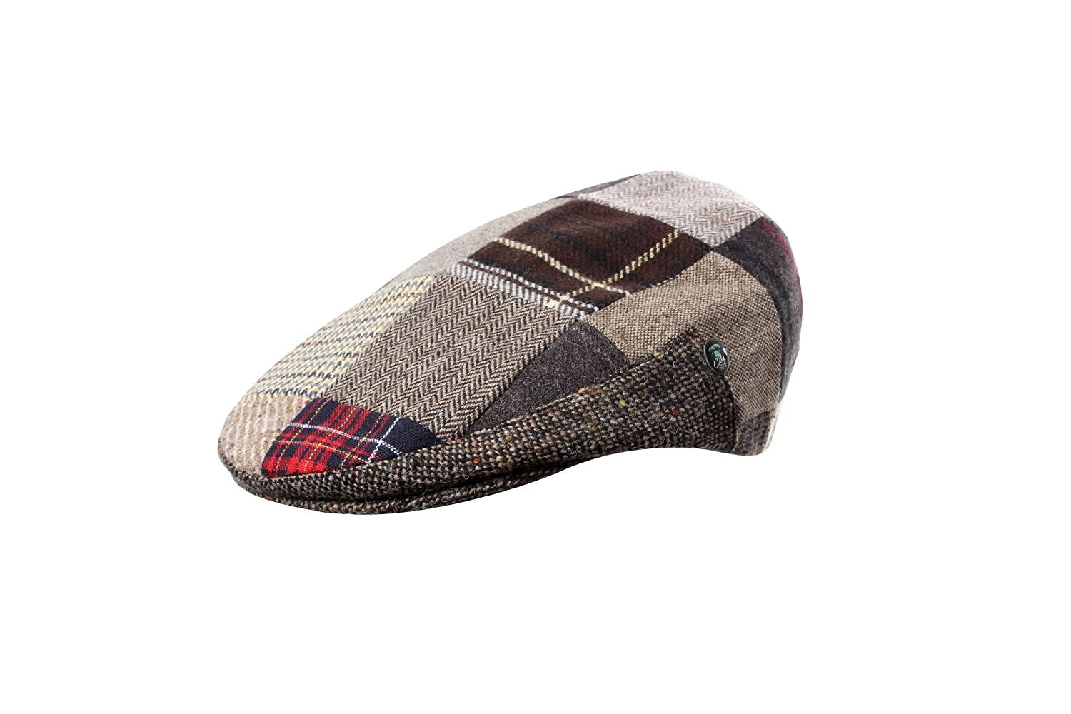 deb956d1cef4b Donegal Tweed - Patch Flat Cap: Amazon.co.uk: Clothing