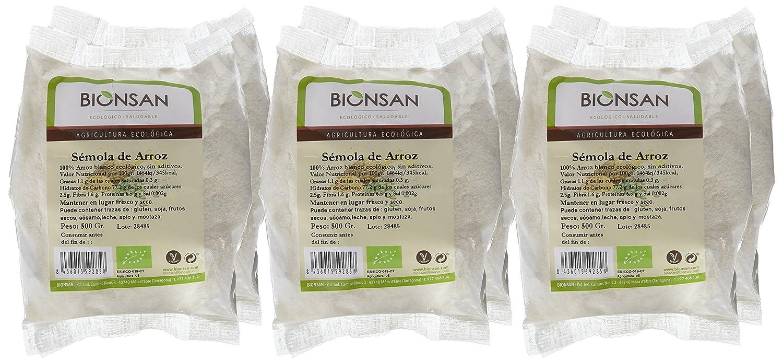 Bionsan Sémola de Arroz - 6 Paquetes de 500 gr - Total: 3000 gr: Amazon.es: Alimentación y bebidas